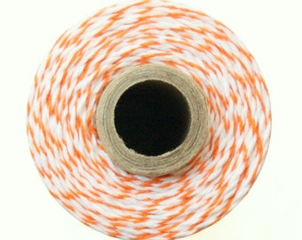 Orange & White Baker's Twine / 15 Yards