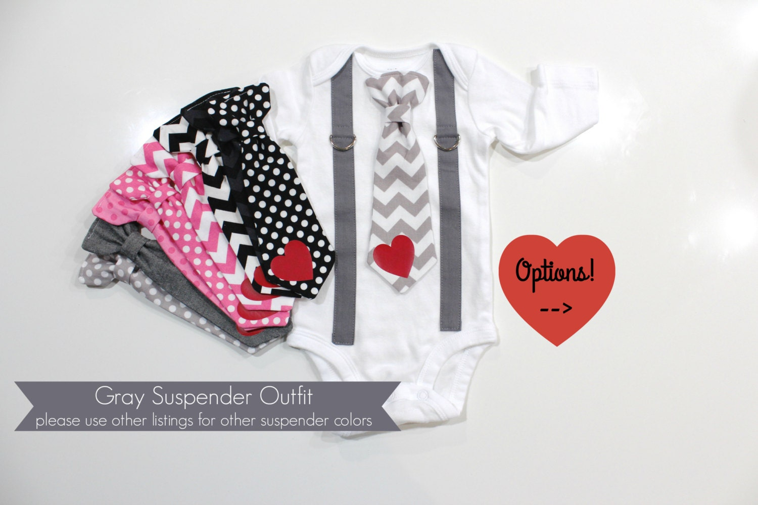 Baby Boy Valentines Outfit Valentines Day Tie and