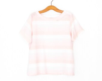 Striped 80s Shirt * Vintage 1980s Top * Pastel Stripes T-shirt * Small
