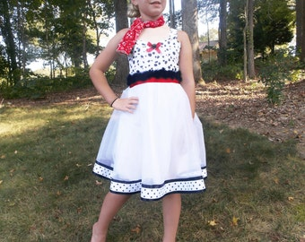 Dalmatian Tutu Dress: black red & white, black spots, Halloween costume, birthday, vacation, adjustable, 101 dalmatians, puppy dress
