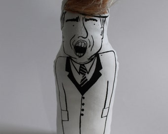 DONALD TRUMP screen printed doll//presidential primaries//political gift