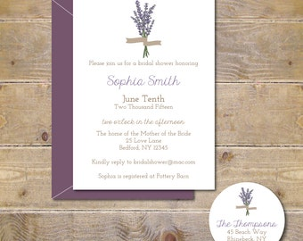 Bridal Shower Invitations, Bridal Shower, Lavendar,  Flowers, Bridal Shower Invites, Wedding, Affordable Wedding, Simple Wedding