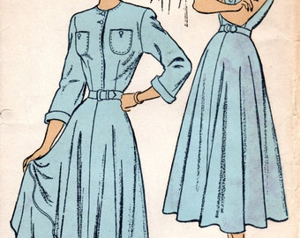1950s Shirtwaist Dress Pattern - Vintage New York 385 - Bust 36