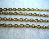 5x4 mm Brass Cable Chain Vintage Oval Shape