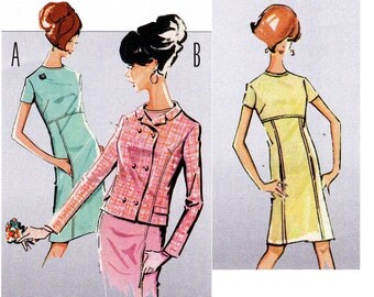 Burda Style 7115 60s Style MOD Dress & Jacket Pattern UNCUT FF Sizes 12 14 16 18 20 22