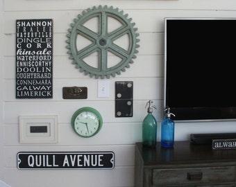 Vintage Inspired Vanity Street Sign - Customizable