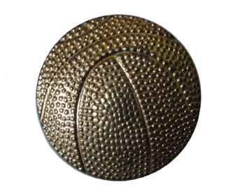 BASKETBALL lapel cloisonne vintage pin pinback trophy NCAA high school sports
