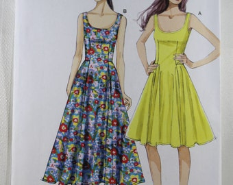 Vogue 8996, Misses' Dress Sewing Pattern, Very Easy Dress Pattern, Misses' Sizes 8, 10, 12, 14, 16, New and Uncut