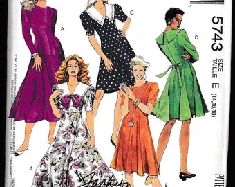 McCall's 5743 Misses' Fitted Dress Fashion Basics