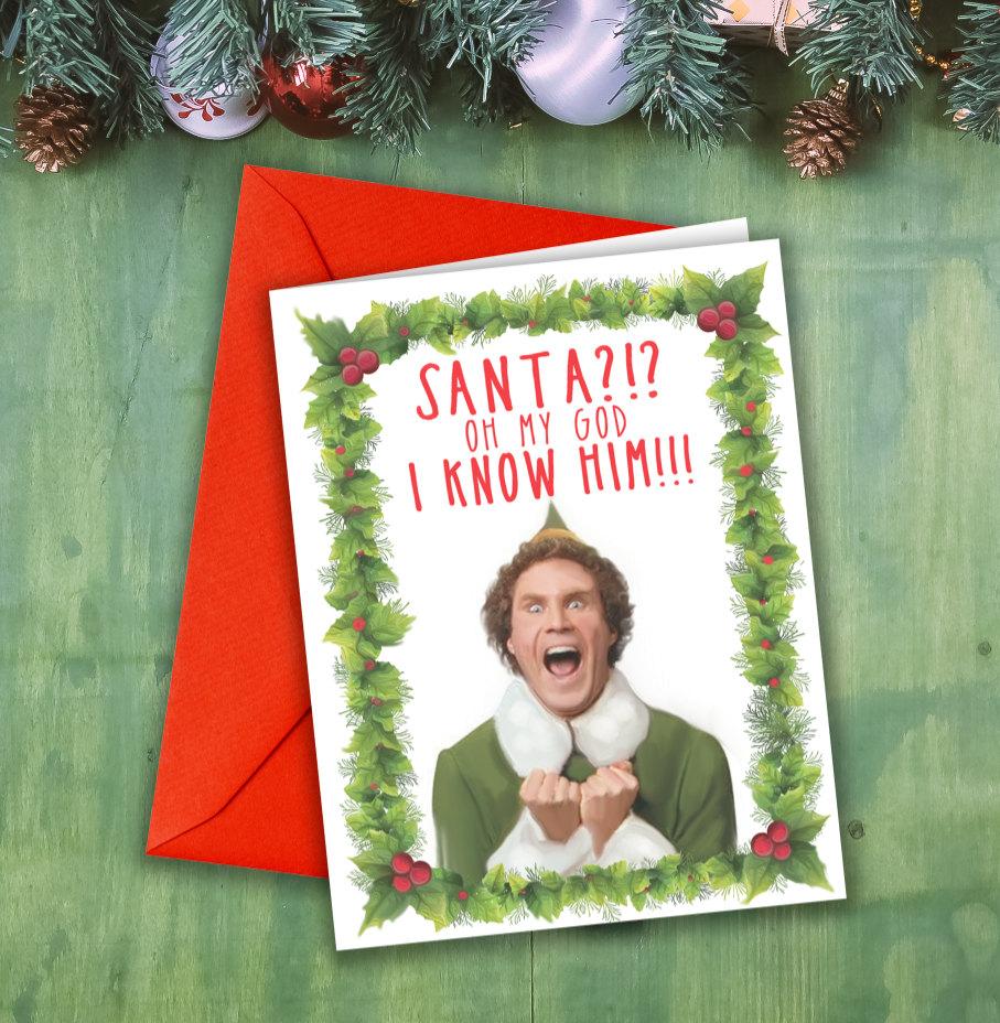 elf movie christmas card holiday movie