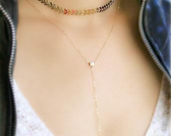 Choker Necklace, Gold Choker, Chevron Choker Necklace, Fishbone Choker Necklace, Boho Necklace, Gold Chain Choker, Bohemian Choker
