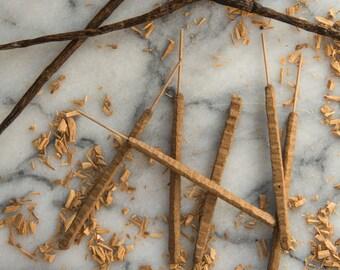 Sandalwood Vanilla - All Natural Hand Rolled Incense Sticks - Bag of 6 or 12