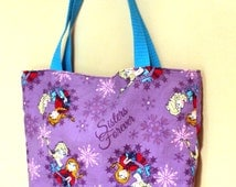 SALE: Reversible Tote Bag with Frozen Fabric
