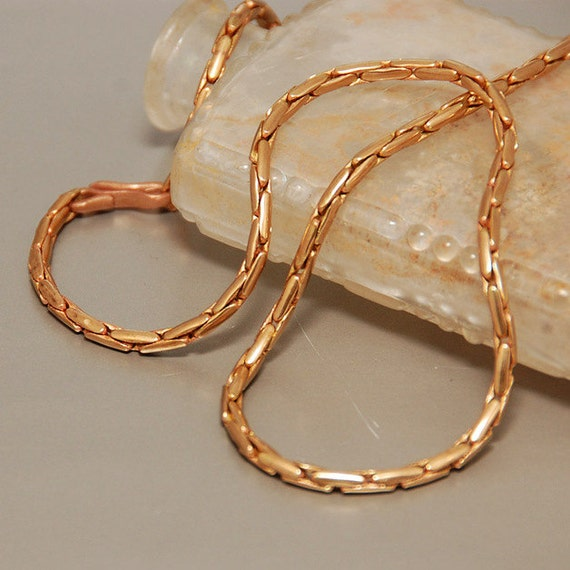 solid bronze chain necklace 216 17 mm 6 lengths available
