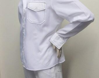 Vintage 1970's White Shirt