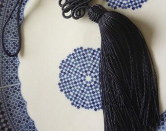 Dark blue  art silk Moroccan decorative tassel, Moroccan decor, accessory