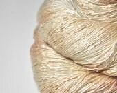 Blushing maiden OOAK - Tussah Silk Lace Yarn
