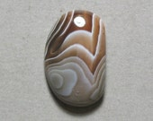 Reserved Listing BOTSWANA AGATE cabochon freeform 15X25mm designer cab