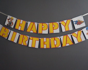 Bob the Builder Birthday Banner - MADE TO ORDER
