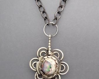 Jelly Opal Flower Necklace