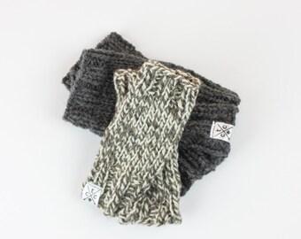 Women's Fingerless Mitts - 100% wool