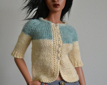 SALE! Hanknitted short-sleeved cardigan for Iplehouse SID