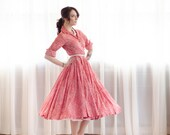 50s Liberty of London Dress - Vintage 1950s Fit & Flare Dress - Nonpareil Dress