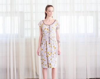 Polka Dot 60s Dress - Vintage 1960s Atomic Print Dress - Cosmic Babe Dress