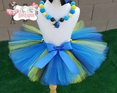 DORY inspired- Blue,Black, and Yellow baby/child Tutu Set:  Newborn-5T