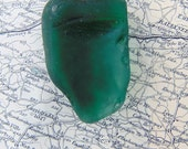 RESERVED Green Sea Glass Green Mermaid's Tear Irish Sea Glass