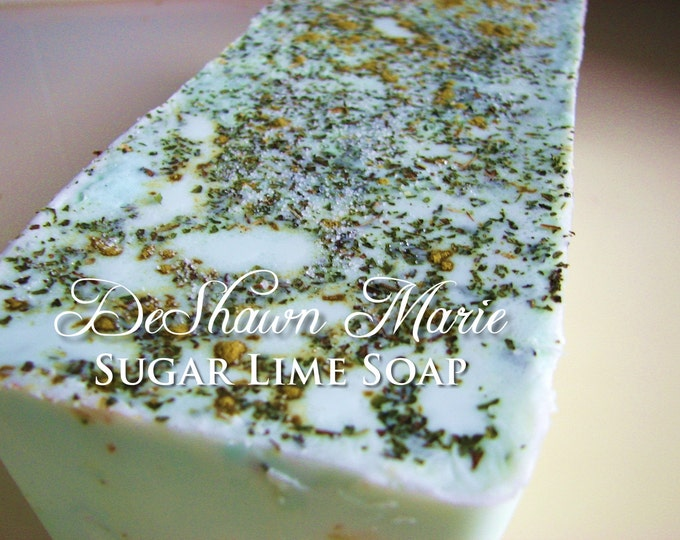 SALE SOAP - 3lb Sugar Lime Soap Loaf, Vegan Handmade Soap, Wholesale Soap Loaves