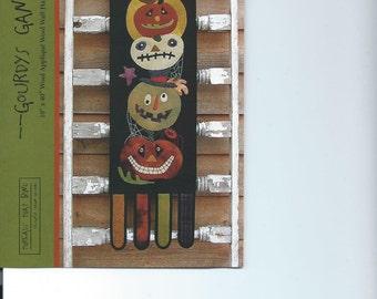 PATTERN - Primitive Folk Art Wool Applique Banner:  GOURDYS GANG (Designer-Shawn Williams)