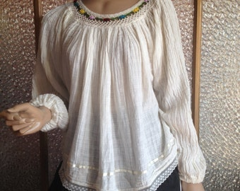 Peruvian Embroidered Blouse