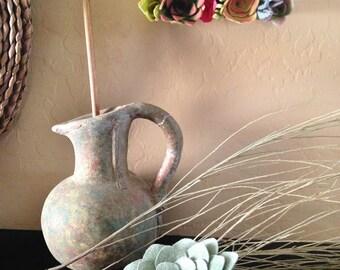 succulent felt plant simple stone