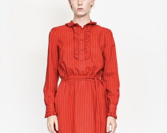 70s Red Secretary Dress