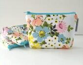 simple pouch -- vintage floral