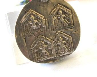 Antique Indian Amulet, Hoi Mata Pendant, India, High Grade Silver, 11.1 Grams