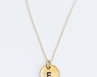 Initial Necklace Simple Dainty Gold Silver Layering