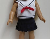 NAVY PLEATED SKIRT 18 inch doll clothes