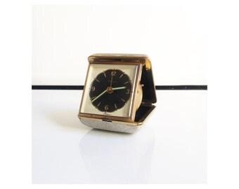 Mid Century Folding Travel Clock