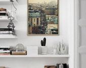 20% Sale: Living Room Print / Paris Rooftops Print / 12x16 wall art / home decor / romantic gift / shabby chic / Paris Photo / Paris Art