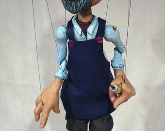 GEPPETTO Hand-made, one-of-a-kind Marionette  (The Adventures of Pinocchio)