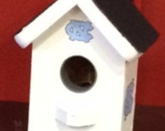 UNC Carolina White Birdhouse Shingle Roof Built To Order