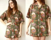 1990's Vintage Slouchy Oversized Novelty Printed 90's Shirt