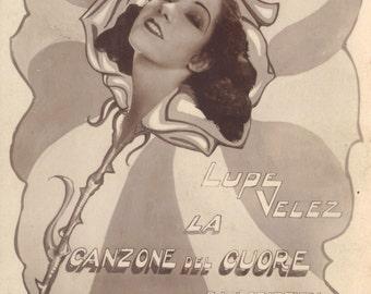 Lupe Velez, Hollywood Movie Star. Vintage Promotional Postcard, circa 1929