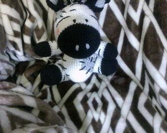 Crochet Zebra Ready to Ship