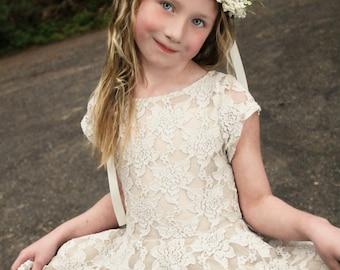 white flower headband, white headband, flower headband, halo headband,flower girl headband, ready to ship, bridal headband