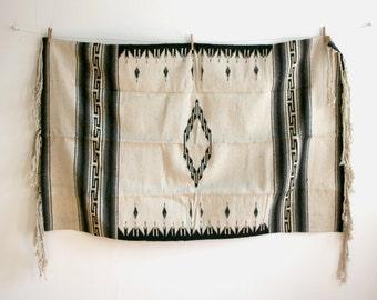 Diamond Ivory Mexican Woven Rug