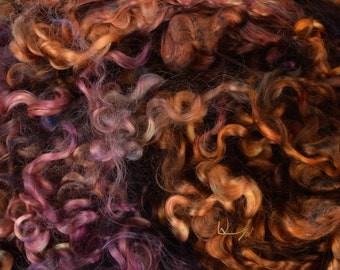 Wensleydale Long Wool Locks for Spinning and Felting Fiber- Colorway Organic
