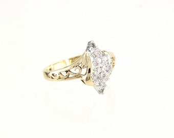 10K Gold and Diamond Ring - Engagement Size 5